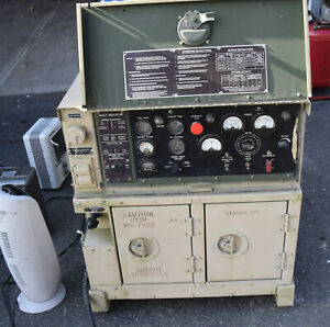 Military Mep 802a 5kw Portable Skid Diesel Generator 60hz Single Phase 25 Hours