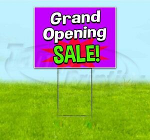 Grand Opening Sale 18x24 Yard Sign With Stake Corrugated Bandit Business Deals