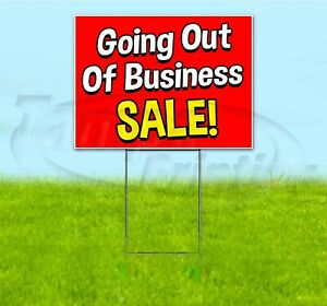 Going Out Of Business Sale 18x24 Yard Sign With Stake Corrugated Bandit Deals