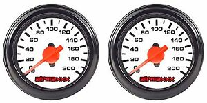 Two Air Gauges Single Needle 200psi Air Ride Suspension System 2 White Face Led