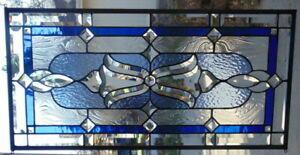 Stained Glass Transom Sidelight Window Hanging 30 X 15 1 2