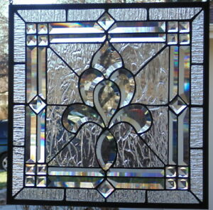 Stained Glass Window Hanging 17 1 2 X 17 1 2