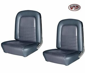 1967 Mustang Front Rear Seat Upholstery Blue Made By Tmi In Stock