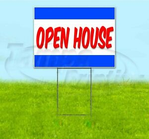 Open House 18x24 Yard Sign With Stake Corrugated Bandit Usa Business