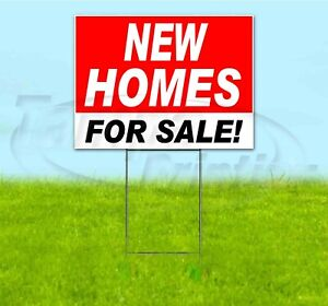 New Homes For Sale 18x24 Yard Sign With Stake Corrugated Bandit Usa Real Estate