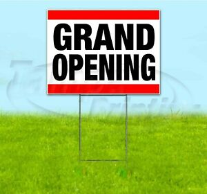 Grand Opening 18x24 Yard Sign With Stake Corrugated Bandit Usa Business