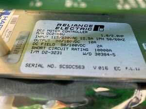 Reliance Electric Drive Dc2 42u Purchased For A Harris Goss Web Printing Press
