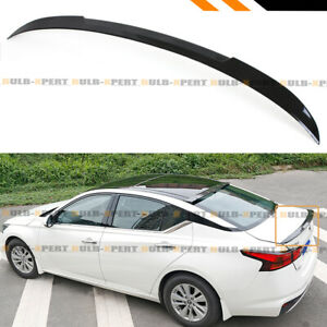 For 2019 2020 Nissan Altima Jdm V Style Painted Glossy Black Trunk Lid Spoiler