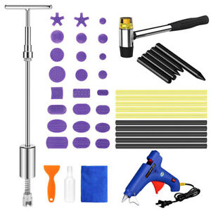 Car Body Paintless Dent Repair Tools Glue Puller Lifter Hail Damage Removal Kit