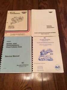 Oilfield Fracturing Rigs Transmission Service Manuals Wabco Palmer Johnson