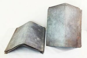 Vtg Antique Metal Sap Maple Syrup Bucket Covers Lids Peaked Roof Top Lot Of 10