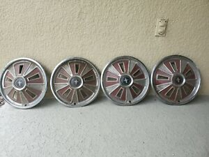 Original 1966 Mustang Hubcaps With Center Pieces Set Of 4