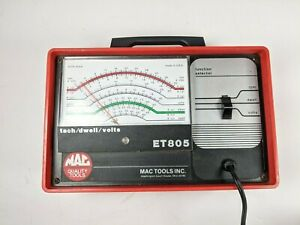 Mac Tools Et805 Tach Dwell Volts Meter Tester