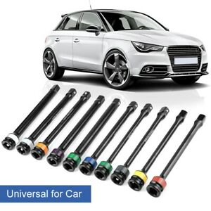 10pcs 1 2 Drive Color coded For Torque Stick Limiter Extension Bar Fitting Kit