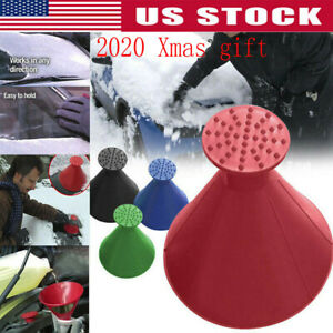 Red Magical Car Windshield Ice Snow Remover Scraper Tool Cone Shaped Xmas Gift