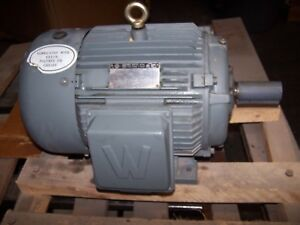 New Worldwide 15 Hp Ac Electric Motor 254t Frame 230 460 Vac 3550 Rpm Tefc