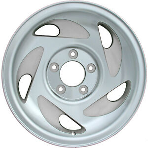 17x8 5 Slot Refurbished Ford Aluminum Wheel Silver 03079