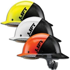 Lift Safety Dax Carbon Fiber Hard Hat 50 50 Yellow White And Orange