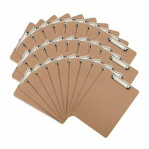 30 Hardboard Clipboards Low Profile Clip Designed For Classroom And Office Us