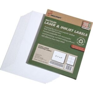 Skilcraft Shipping Labels 3 1 3 x4 White 600 Labels nsn5789294