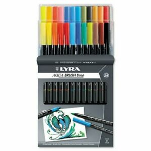 Lyra Dual Tip Marker Assorted 24 Colors 1 Pack dix6521240