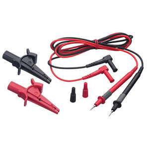 Ideal Electrical Tl 495 Test Leads With Alligator Clips