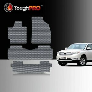 Toughpro Floor Mats 3rd Row Gray For Toyota Highlander All Weather 2008 2013