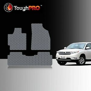 Toughpro Floor Mats Gray For Toyota Highlander All Weather Custom Fit 2008 2013