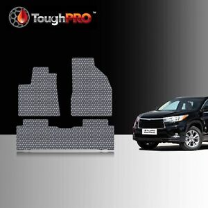 Toughpro Floor Mats Gray For Toyota Highlander All Weather Custom Fit 2014 2019
