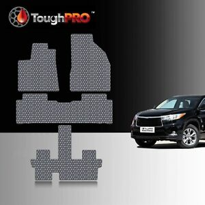 Toughpro Floor Mats 3rd Row Gray For Toyota Highlander Bucket 2014 2019