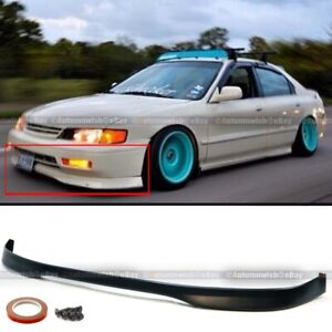 Fits 94 95 Honda Accord 2 4dr T r Style Front Bumper Lip Body Kit Lower Spoiler