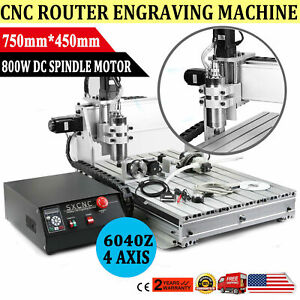 Usb 4 Axis 1 5kw Cnc 6040z Router Engraver Wood Drill milling Machine controller