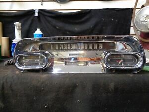 1958 Cadillac Dash Gauge Cluster Speedometer Instrument Panel With Clock
