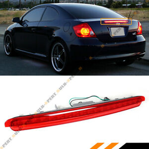 For 2005 10 Scion Tc Full Led Red Lens 3rd Brake Light Tail Rear Trunk Stop Lamp