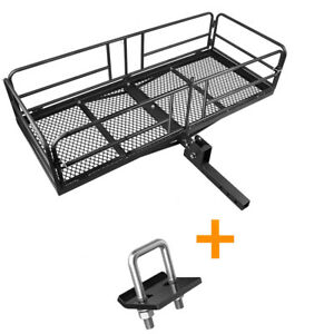 High Side Cargo Rack Carrier Luggage Basket 2 Receiver Anti rattle Stabilizer