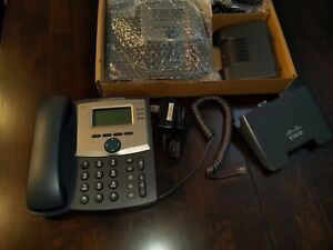 4 Stations cisco Spa303 3 line Ip 2 Phones sip W stands And Power Adapters
