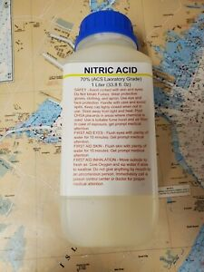 Dt Nitric 70 Acid 1 Liter 34oz High Purity Hno3 For Gold And Silver Refining