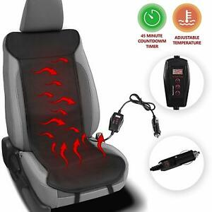 Zento Heated Leather Car Seat Cushion Adjustable Temperature Back Pain Reliever