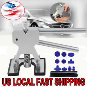 Car Body Dent Lifter Puller Tabs Paintless Dent Repair Hail Removal Tool Kit Lu
