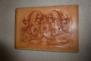 Vintage Leather Journal Cover Notebook Pocket Notepad Tooled 6x9