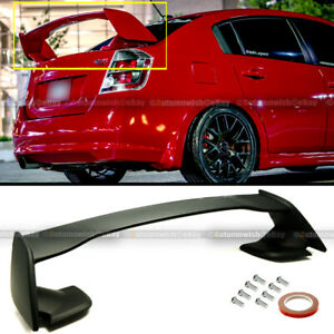 For 07 12 Nissan Sentra 4dr B16 Jdm Style Unpainted Abs Rear Trunk Wing Spoiler