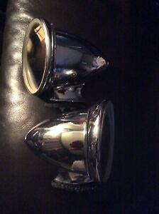 Vintage Set Of Gt400 Bullet Style Chrome Mirrors