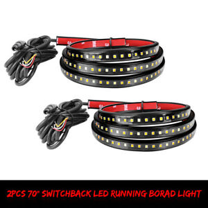2x 70 Led Running Board Lights Side Door Step Strip Bar For Ford Jeep Truck Gmc