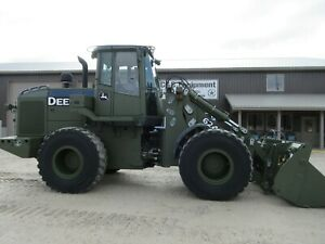 2009 John Deere 624kr 624k Wheel Loader Low Hours Ex Military