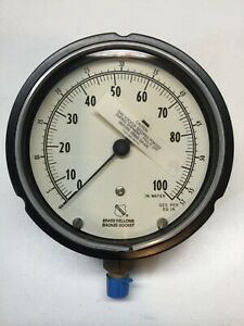 Ashcroft Water Pressure Gauge 0 100 Inches water New without Box 4 Inch Face