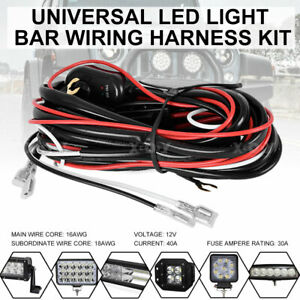 Us Wiring Harness Kit 40a 12v On Off Switch Relay For Led Work Light Bar