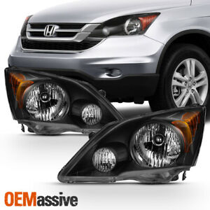 Fits 2007 2011 Honda Cr V Black Headlights Complete Replacement 07 08 09 10 11