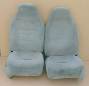 92 96 Ford Truck Bronco F150 F250 Front Bucket Seats Gray 1992 1996 Seat
