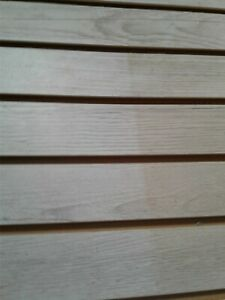 48 X 96 Slatwall Mdf Panel 6 Groove With Aluminum Insert White Oak Melamine