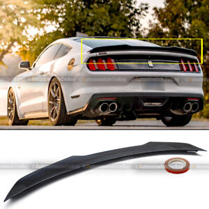 Fits 15 20 Ford Mustang S550 H Style Gloss Black Painted Rear Trunk Spoiler Wing